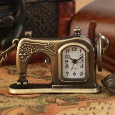 Design Retro Pocket Watch Gift Quartz Pocket Watch Antique Sewing Machine