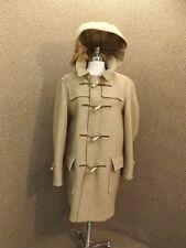 Vtg Winnipeg Canada Warm Tan Wool Hooded Duffle Jacket Coat Sz 42 Winter Sporty