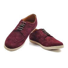 Canali Burgundy Suade Oxford Shoe Size US 10.5 EU 43.5 NEW CSH44