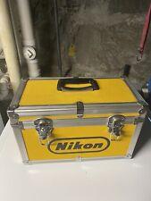 NIKON Vintage Yellow Hard Aluminum Camera Case