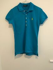 POLO RALPH LAUREN LADIES POLO TOP SIZE SMALL TURQUOISE