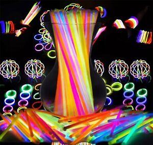 15 Glow Sticks Premium Bracelets Neon Necklaces Birthday Rave Party Favour