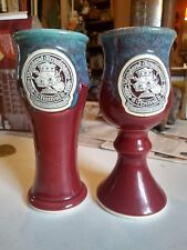 Studio art pottery goblet pilsner 2002 Maryland Renaissance Festival Dilly Dilly