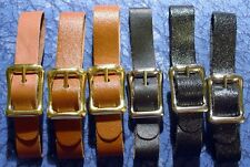 3 Brown & 3 Black New 1/2 in. Leather Pocket Watch Fob Straps