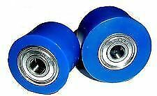 Honda CRF 450 R 02-04 Chain Roller Set Rollers Upper + Lower Chainroller BLUE