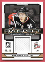 2014 Brendan Perlini ITG In the Game Draft Prospects Rookie Jersey 45/45
