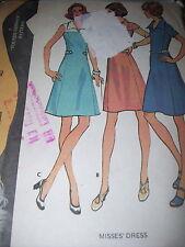 1973 McCALL'S #3567 - LADIES RETRO ( 3 STYLE ) KNEE LENGTH DRESS PATTERN  18 uc