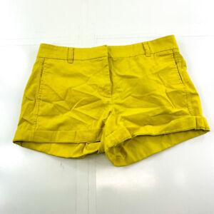 J Crew Shorts Womens 8 Yellow Mustard Chino Casual Ladies