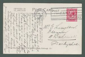 1923 GB - GV PPC with Edinburgh 'Post Early In The Day' slogan postmark (P761)