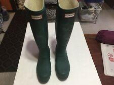 Hunter Tall Boots  ~ Green ~ Size Men 5M Ladies 6F
