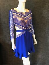 NEW WITH TAGS - THREE FLOOR BLUE & NUDE LACE DRESS - UK 14