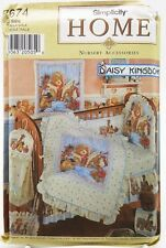 Baby Quilt Bumper Bib Sheet Dust Ruffle Diaper Stacker Pillow Pattern 7674