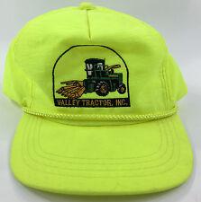 Vintage Nylon Trucker Hat Snapback Cap Neon Yellow Valley Tractor, Inc.