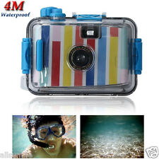 Genuine Underwater Waterproof Lomo Mini 35mm Film Lovely Colorful Stripes Camera
