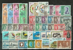 Gambia Selection of 45 Stamps #3000
