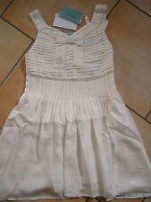 (C372) Miss Blumarine Girls Kleid 100% Seide + Pailletten & Strass Besatz gr.116