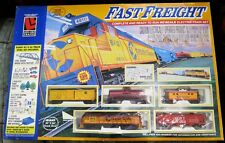 ".H/O SCALE LIFE-LIKE TRAINS ""FAST FREIGHT"" COMPLETE BOXED SET."
