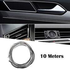 Chrome Silver 10M DIY Car Grille Interior Decoration Mounding Trim Strip Lines