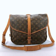 Authentic LOUIS VUITTON Shoulder Bag M42254 Saumur 35 Monogram canvas Women