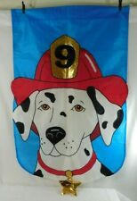 "29"" X 47"" Dalmatian #9 Fire Dog Outdoor Banner/Flag Décor ~ Excellent Condition!"