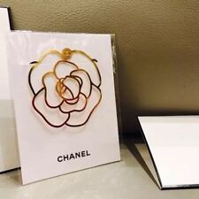 NEW CHANEL VIP BEAUTY GIFT Camellia Metal Book Mark Free Shipping