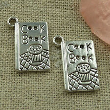 free ship 100 pieces tibetan silver Cook Book charms 19x11mm #2783