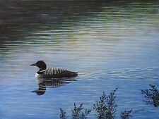 Loon - Original Acrylic Painting On Canvas - Wildlife, Duck, Bird, Lake, Pond