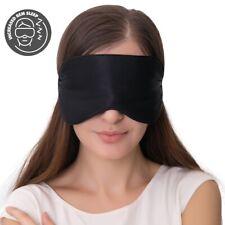 Silk Sleep Mask & Blindfold 100% Light Blocking Eye Cover Black - 1-Pair/ 2-Pair