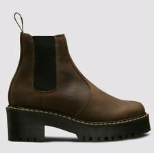 Dr Martens Women's Rometty Leather Chelsea Boots, UK 9,  Dark Brown Platforms