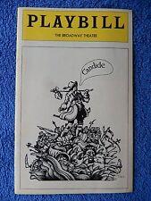 Candide - Broadway Theatre Playbill - August 1974 - Lewis J. Stadlen - Baker