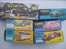 CORGI  267 208 200 154 155 463  REPRODUCTION BOXES FOR SALE