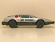 🚗 Vintage 80s GDR No.53 ELF FERRARI 512 CHARDONNET Tin Friction Car RARE SILVER