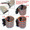 40PCS Male to Female 2.54mm 1P-1P Dupont Jumper Connector Wire Cable 10/20/30CM
