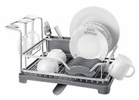 Dish Drainer Rack Kitchen Sink Washing Plates Cutlery Draining Board Holder Cup