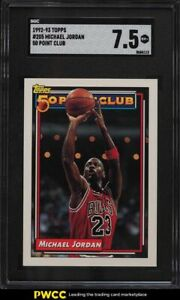 1992 Topps Basketball Michael Jordan #205 SGC 7.5 NRMT+