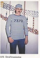 Fasching - Fasnet – Karneval - Vintage  Sträflingsjacke - Neu  Größe 4