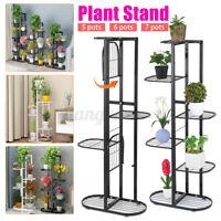 Metal Garden Flower Plant Stand Pot Rack Iron Shelf Outdoor Indoor Holder Dec