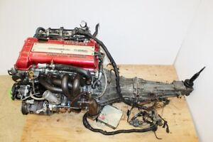 JDM Nissan Silvia 240SX SR20DET Engine S13 Red Top 5 Speed Trans 2.0L Turbo SR20