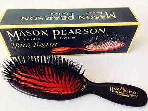 Mason Pearson SB4 Pure Bristle Pocket Sensitive Hairbrush - Dark Ruby