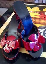 Robert Clergerie Red Lucite Patent Flower Heel Size 7