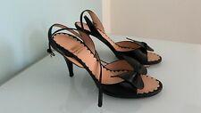 High Heels, Riemchen Sandaletten, Moschino, schwarz, Gr. 37