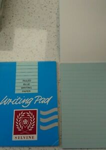 Writing Pad Ruled Blue Silvine 40 Sheets Duke 175mmx135mm - Ideal for Letters