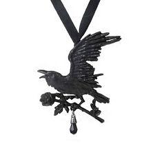 New Alchemy Gothic Harbinger Black Raven Pendant Necklace P739