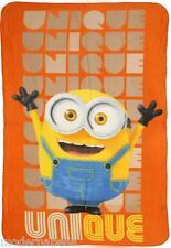 Minions Coperta copertina Pile Plaid Lenzuolo 140x100 bimba bimbo arancione