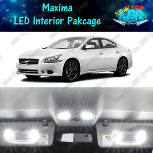 CANBUS White LED Lights Interior Kit Package Bulbs For 2009 - 2014 Nissan Maxima