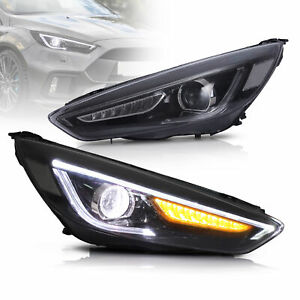 VLAND LED Headlights Headlamp for Ford Focus ST/RS 2015-2017 With Sequential