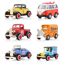 Diecast Pull Back Cars Model Sound Light Pull-back Vehicle Birthday Decor Toys
