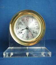 Vintage Seth Thomas Corsair Model E537-000 Windup Ship's Clock Lucite Frame
