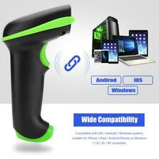 2.4G Bluetooth Wireless Laser Barcode Scanner Reader for iOS Android Windows