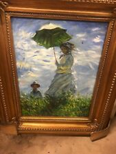 Mother and Child in field Oil based painting with frame
